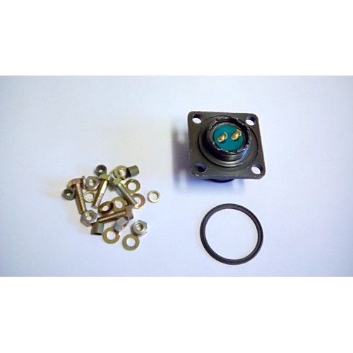 CLANSMAN 2 PIN POWER  FEMALE CHASSIS SOCKET